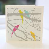 Parakeets Multi Greeting Card