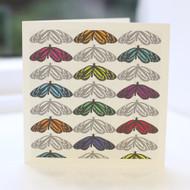 Jacky Al-Samarraie Butterflies Grey Greeting Card