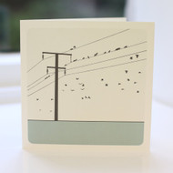 Jacky Al-Samarraie Birds on a Wire Greeting Card