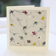 Blossom Grey Greeting Card