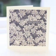 Cow Parsley Blue Greeting Card