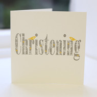 Jacky Al-Samarraie Christening Letterpress Greeting Card