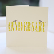 Jacky Al-Samarraie Anniversary Letterpress Greeting Card