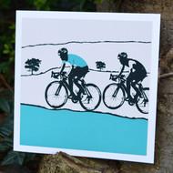 Jacky Al-Samarraie Male Cyclist Greeting Card