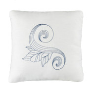 SAVANNAH SWIRL EMBROIDERED PILLOW