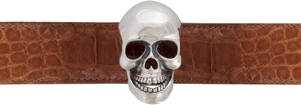 "Jeff Deegan Skull 1 1/2"" Trophy Buckle"