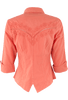 Gretty Zueger Point Bottom Top - Coral - Back