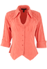 Gretty Zueger Point Bottom Top - Coral - Front