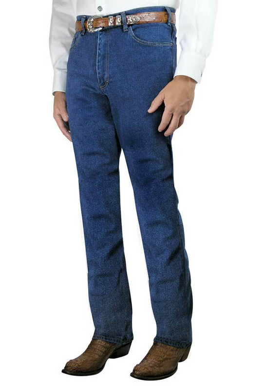 Grand River Stonewash Stretch Blue Jeans - Front