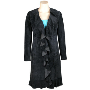 Scully Suede Ruffle Jacket