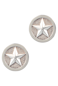 Pinto Ranch Silver Star Cufflinks - Front