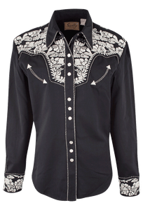 Scully Women's Gunfighter Western Snap Shirt - Silver