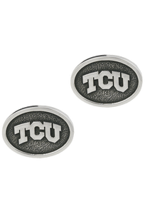 Texas Christian University Silver Cufflinks - Front