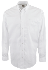 Cinch White Solid Button-Down Shirt - Front