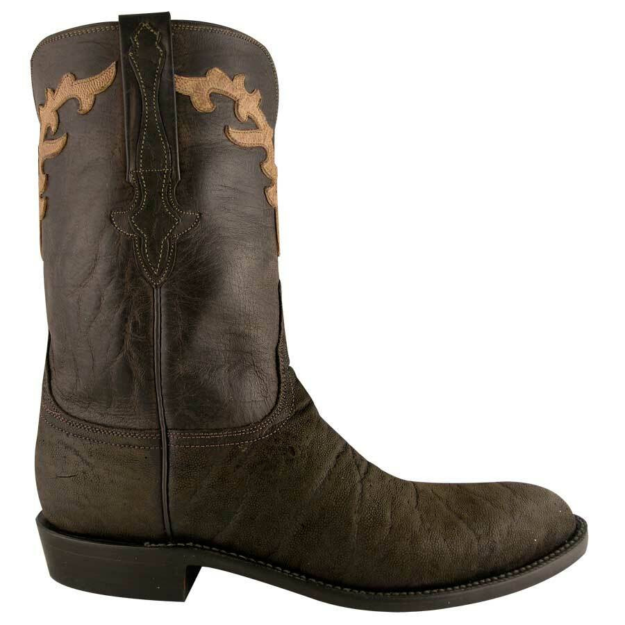 men u0026 39 s lucchese chocolate suede roper boots