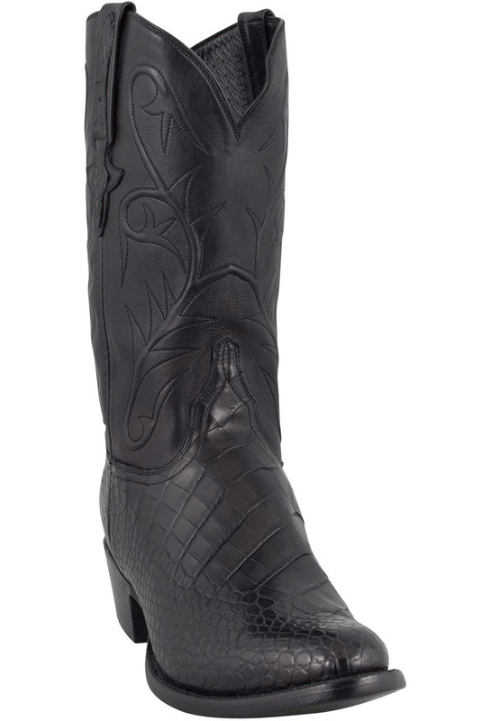Lucchese Men's Black American Alligator Boots - Hero