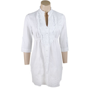 Gretty Zueger Ruffled Collar Tunic