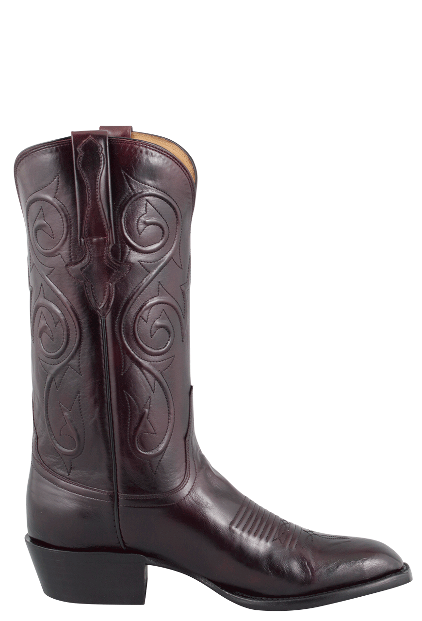 Lucchese Men S Black Cherry Kangaroo Boots Pinto Ranch