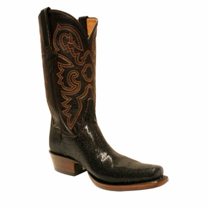 Lucchese Mens Shaved Stingray Boots - Coffee