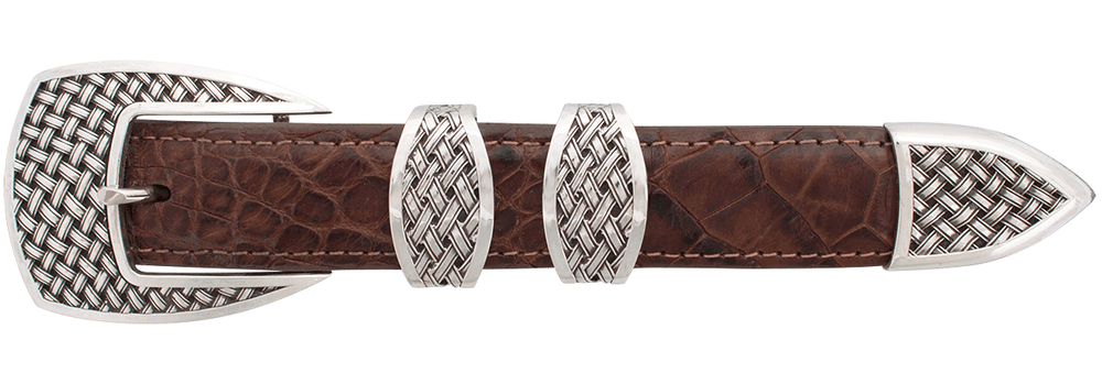 "Sunset Trails Basketweave 1"" Buckle Set"