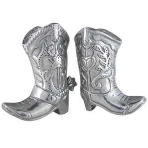Home - Arthur Court Cowboy Boot Salt and Pepper Shakers