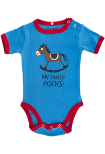 Infant - Boys My Horse Rocks Onesie - Front