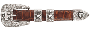 "Texas A&M University Engraved 1"" Buckle Set"
