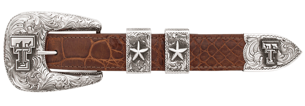 "Texas Tech University Engraved 1"" Buckle Set"