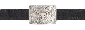 "University of Austin Bevo Gold and Silver 1"" Trophy Buckle"