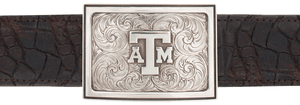 "Texas A&M University Engraved 1 1/2"" Trophy Buckle"