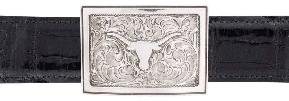 "University of Texas Bevo Engraved 1 1/2"" Trophy Buckle"