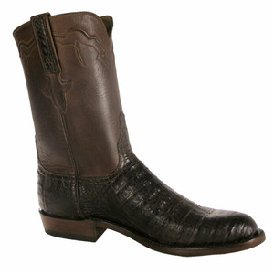 Lucchese Mens Caiman Belly Roper Boots - Barnwood