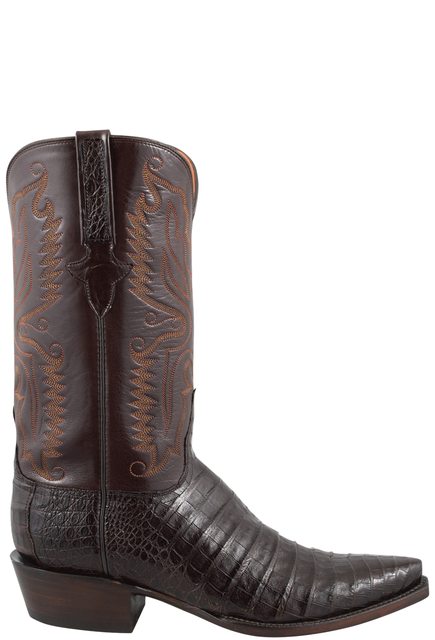 Lucchese Men S Ultra Caiman Crocodile Boots Chocolate