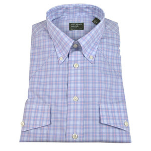 Gitman - Blue and Pink Plaid Button-Down Shirt