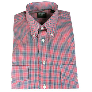 Gitman - Red and Black Summer Check Button-Down Shirt