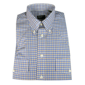 Gitman - Blue and Yellow Button-Down Shirt