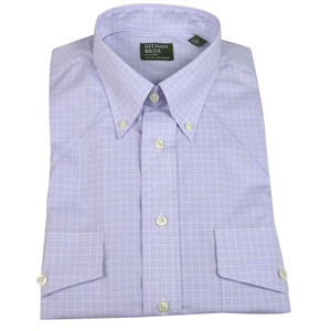 Gitman  - Plaid Button-Down Shirt - White and Lavender