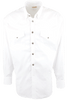 Stubbs - Mens Solid Western Shirt - White - Front