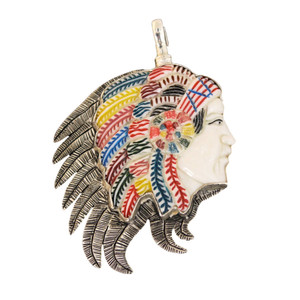 Coreen Cordova Indian Chief Charm - Large
