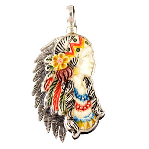 Charm - Indian Maiden Charm - Small