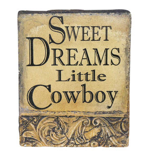 "Plaque - ""Sweet Dreams"" Cast Stone Panel"