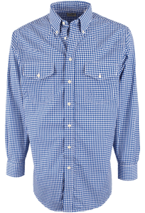 Gitman Bros. Royal Blue Check Shirt - Front
