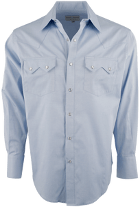 Pinto Ranch by Stubbs Classic Snap Shirt - Blue - Front