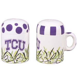 University - Texas Christian University Salt and Pepper Shakers