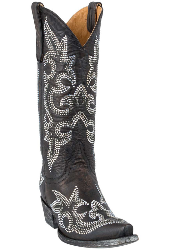 Old Gringo Women's Dark Brown Diego Crystal Boots - Hero