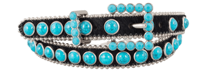 Narrow Crystal Belt - Turquoise