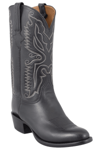Lucchese Men's Black Stitched Softie Boots - Hero