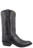 Lucchese Men's Black Stitched Softie Boots - Side