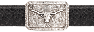 "Pinto Ranch Longhorn 1 1/2"" Trophy Buckle"