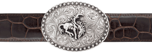 "Silver King Bronco with Berries 1 1/2"" Trophy Buckle"
